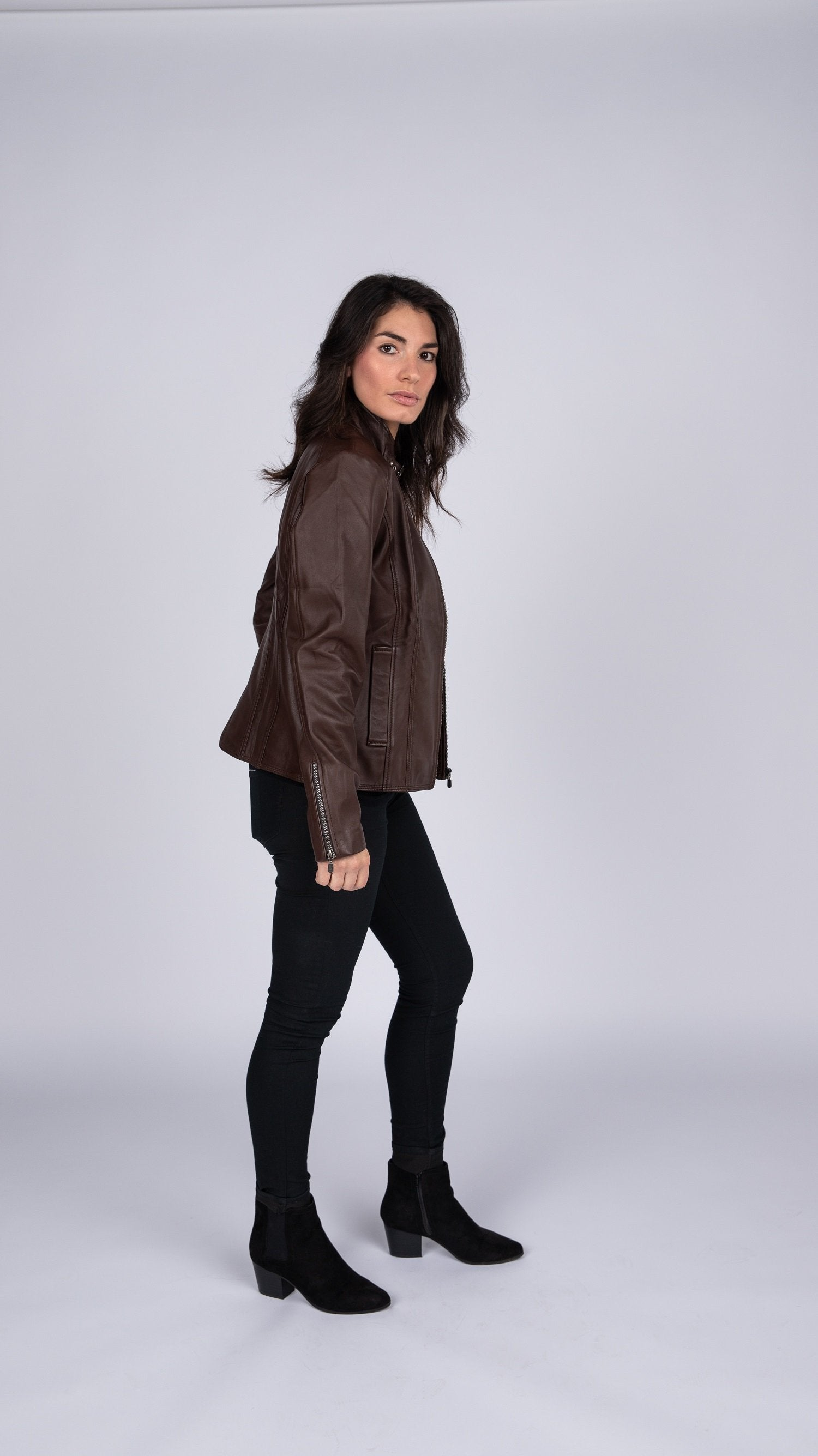 Womens Anne Vintage Leather Jacket - fadcloset