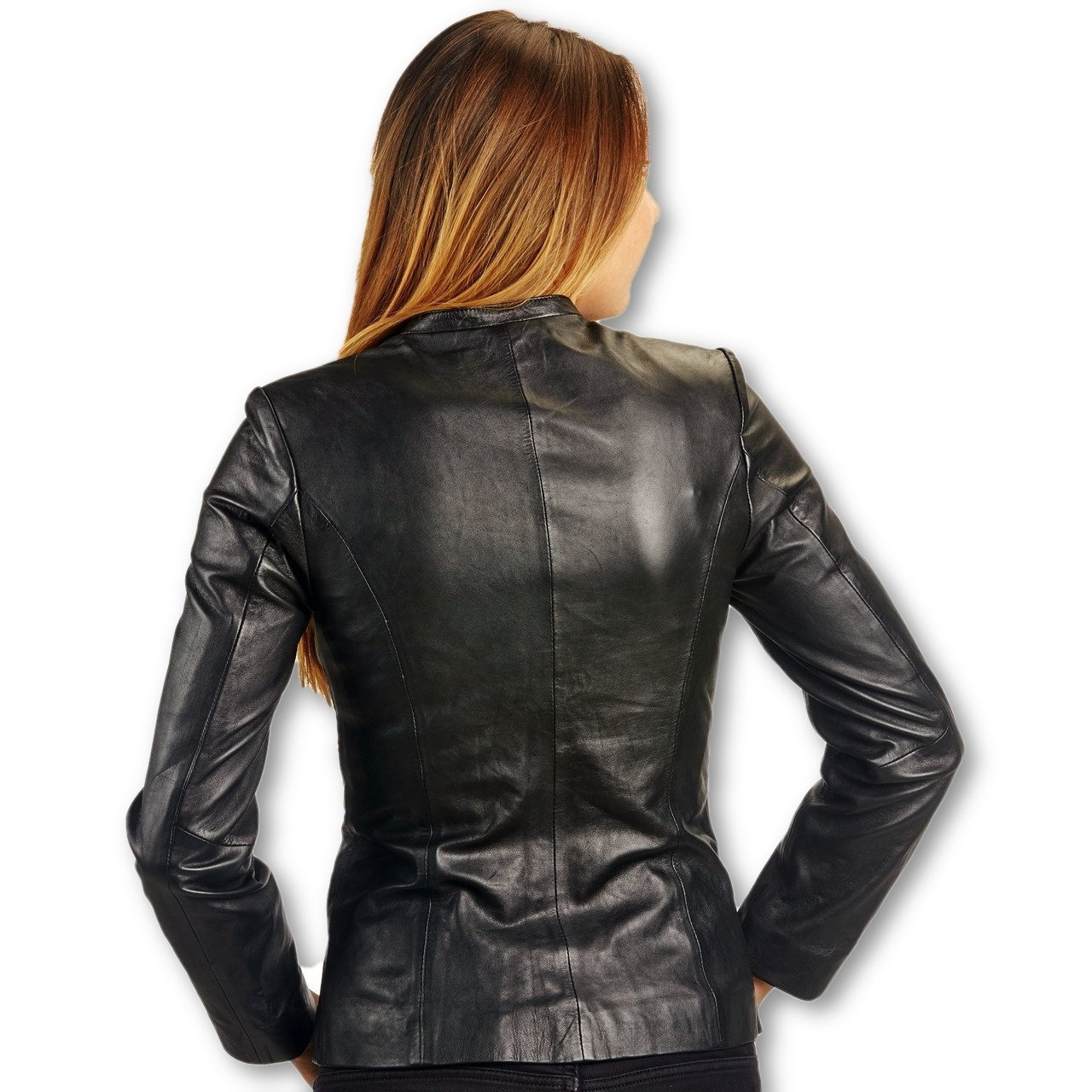 Womens Leather Jacket - Womens Classic Jessica Lambskin Leather Jacket