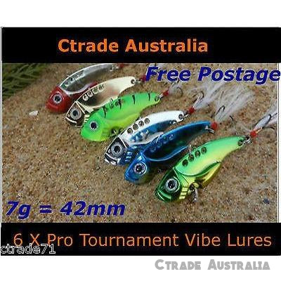 Vibe Fishing Lures Switch blade Lures 42mm 7g Qty = 6 Pack - Ctrade Australia