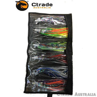 Marlin Trolling Lures 9 inch Qty = 6 Includes FREE Carry Case & Trolling Swivels - Ctrade Australia
