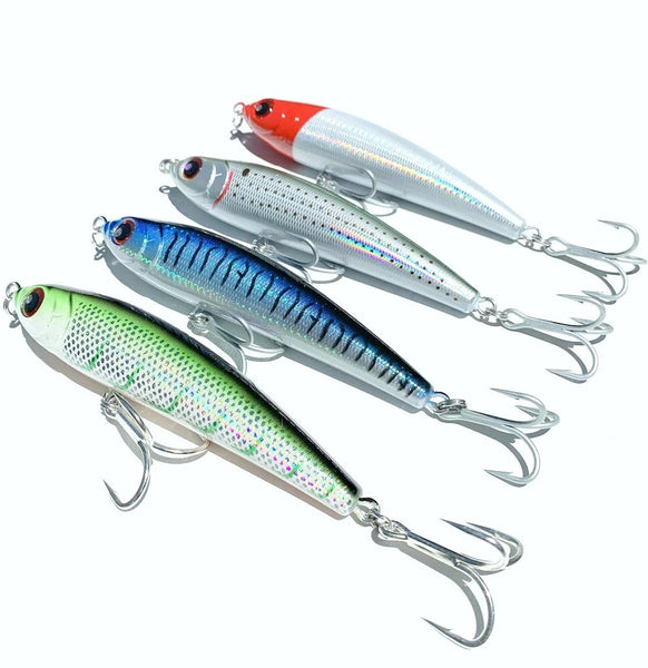 X 4 Noeby Sinking Stickbaits 160mm 98g Tuna Mackerel Big Game VMC Hooks - Ctrade Australia