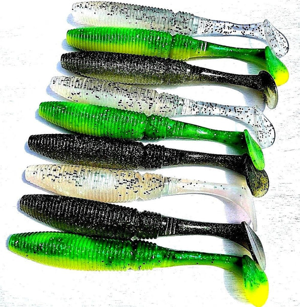 Qty = 9 Noeby Soft Plastic Lures 175mm 40g Paddle Tail Snapper Barra Jewfish Kingfish - Ctrade Australia