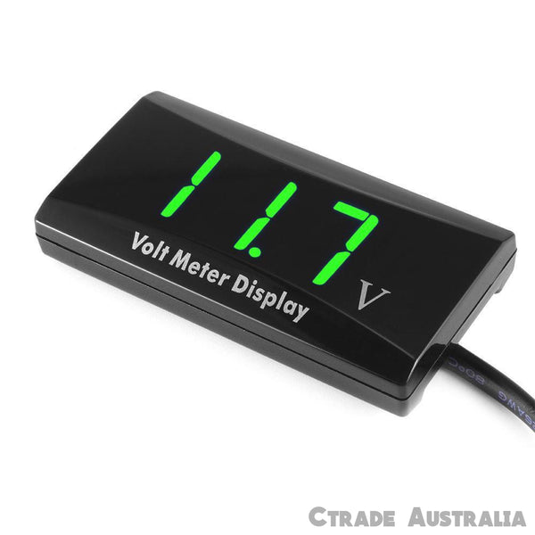 Battery Monitor DC 12 v LED Digital VoltMeter Gauge Voltage Marine Caravan Cars - Ctrade Australia