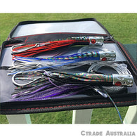 "3 x Game fishing lures Alloy Jetheads 7"" Set + FREE Lure Case - Ctrade Australia"