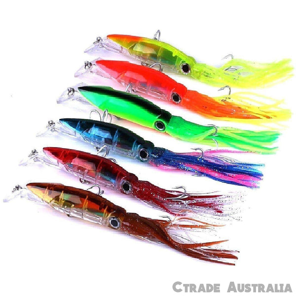 Qty = 6 Game Fishing Octopus Trolling Lures Bonito Kingfish Tuna Lures - Ctrade Australia