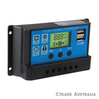 Solar Regulator Charge Controller 30A 12v 24v Auto - Ctrade Australia