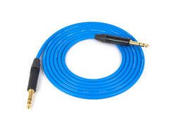 Canare L-4E6S Blue Microphone Cable with Neutrik Gold TRS Connectors