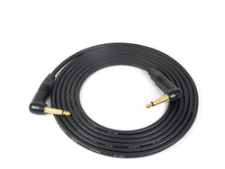 "Canare GS-6 Instrument Cable with Neutrik Gold 1/4"" Right Angle TS Plugs"