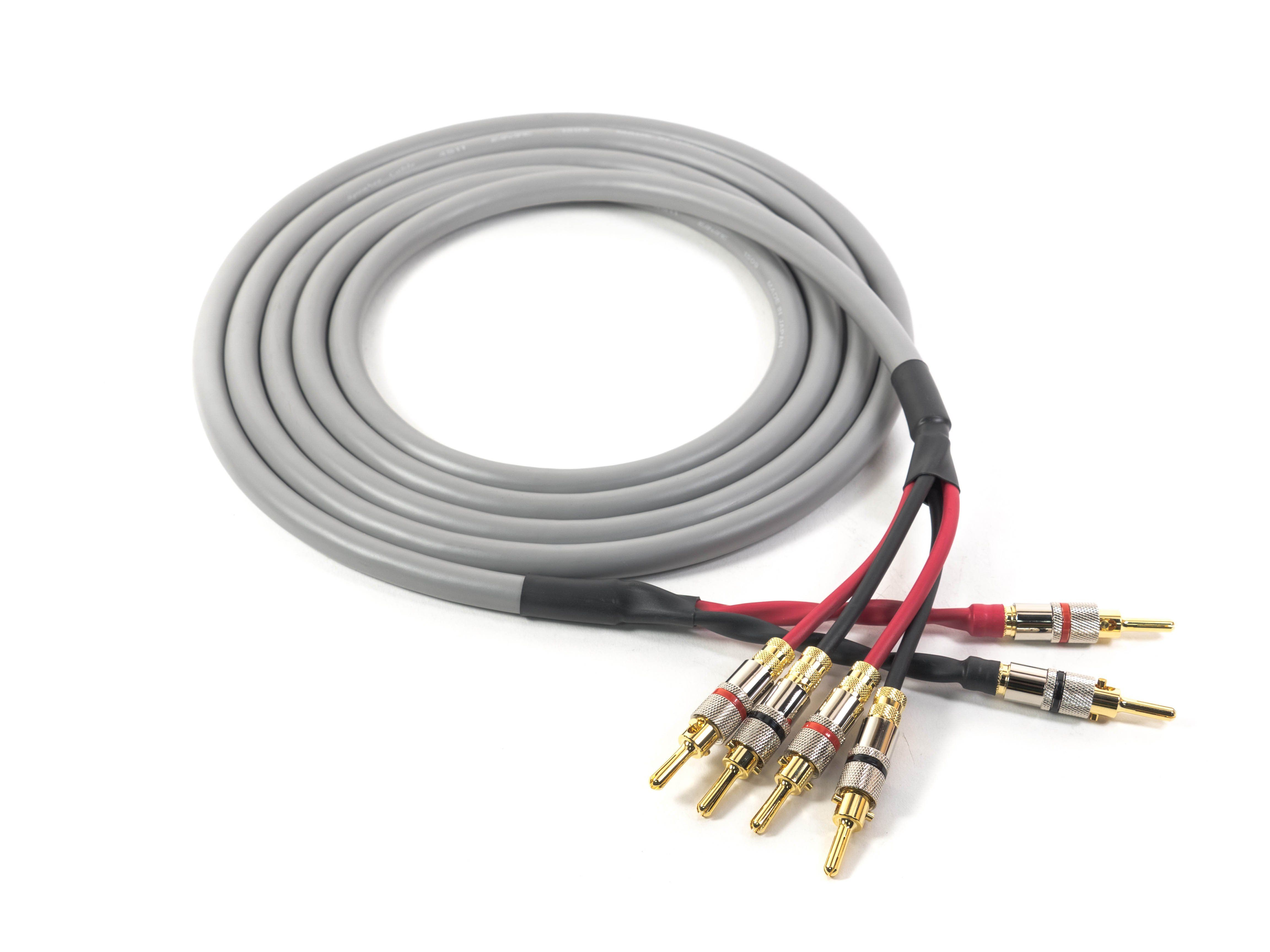Canare 4S11 Professional Speaker Cable with Locking Banana Plugs