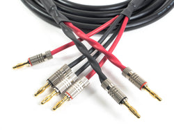 Canare 4S11 Professional Bi-Wire Speaker Cable with Premium Banana Plugs