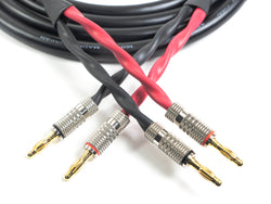 Canare 4S11 Professional Speaker Cable with Premium Banana Plugs