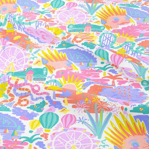 Pastel Playtime - GOTS Certified Organic Cotton Sateen