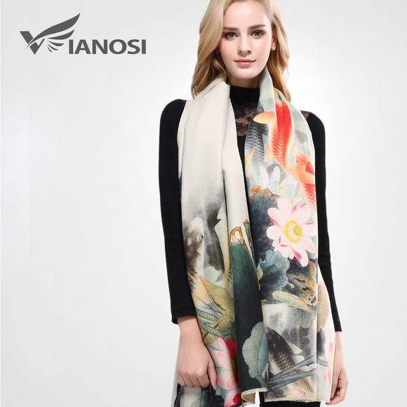 Luxury Scarf Women Wool Cashmere Shawls and Scarves