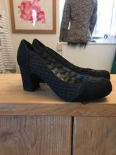 Ruby Shoos Black Slip on Block Heel Court Shoes Size 5