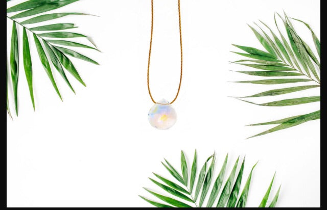 Olive May Rainbow Quartz Seascape Necklace