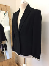 Laura Brooks Black Lined Blazer Size 12