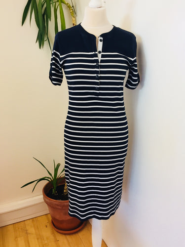 Ralph Lauren Blue & White Striped Dress Size Small
