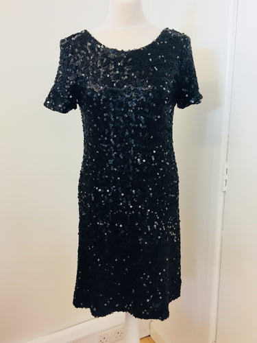Next Black Sequinned Dress Size 12