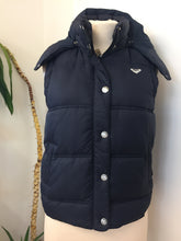 Roxy Blue Padded Hooded Gilet Size 12