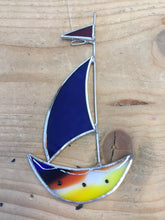 Rosalyn Sailing Boat Glass Art Hanger