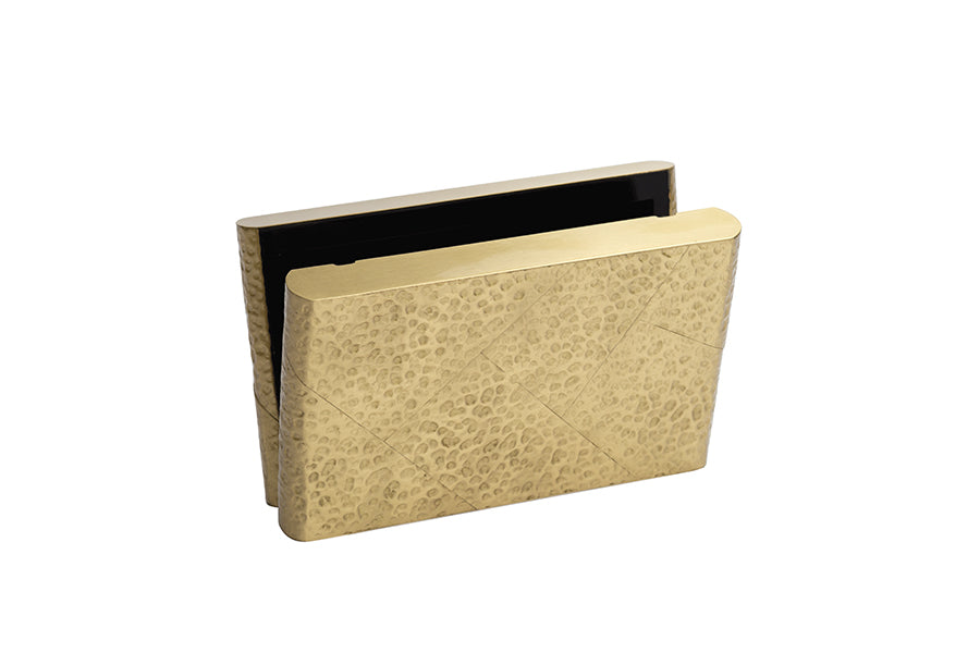Nathalie Trad Robin Clutch Bag- Hammered Brass with Gold Chain