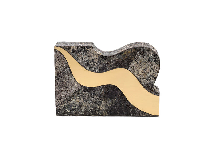 Nathalie Trad Arp Clutch Bag - Penshell and Brass