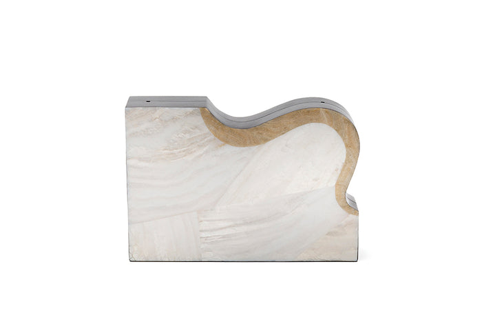 Nathalie Trad Arp Clutch Bag- Kabibe shell and Stone