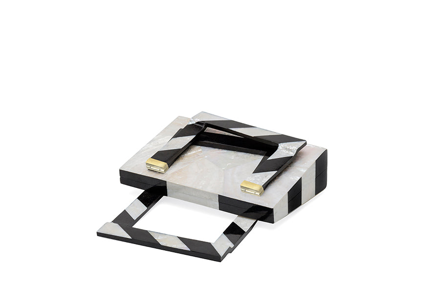Nathalie Trad Francis Clutch Bag-Kabibe  and Black Tab Polish shell