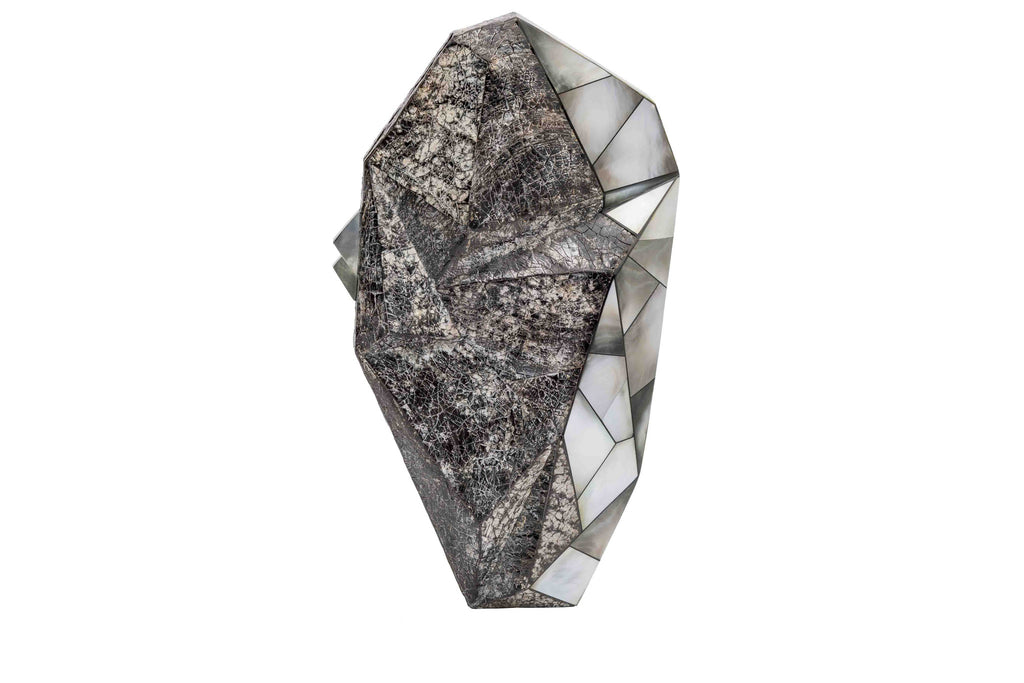 Nathalie Trad Polygonia Clutch Bag- Penshell and Black Lip Hayang shell.
