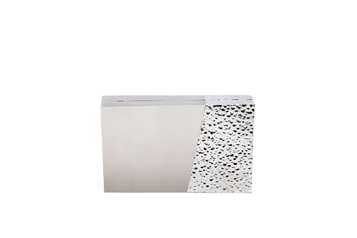 Nathalie Trad Tilda Clutch Bag- Stainless Steel