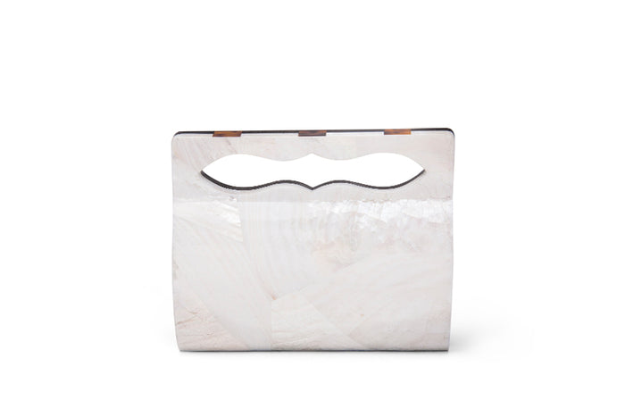 Nathalie Trad Yves Clutch Bag- Black Tab and Kabibe shell clutch.