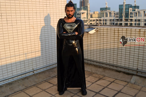 Black Superman Catsuit with cape