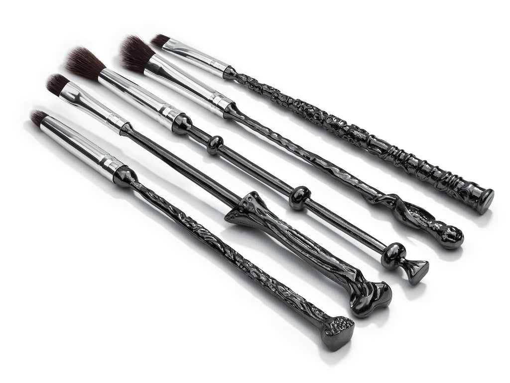 The Greatest Wizard Makeup brush wand  Set 5PCS with velvet case