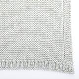 Organic Knitted Cellular Baby Blanket - Dove