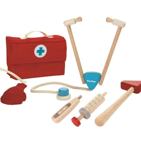 Wooden doctors toy set