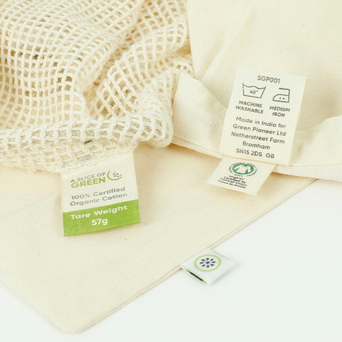 Organic Cotton Mesh Produce Bag 3 Pack