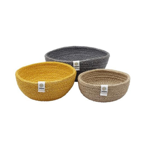 Jute Mini Bowl Set - Beach
