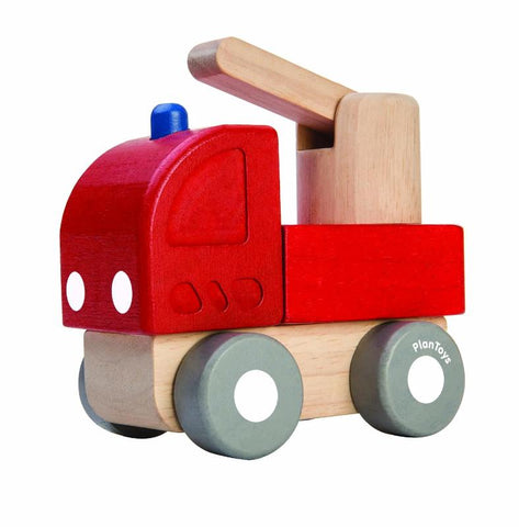 Wooden Fire engine i red and natural