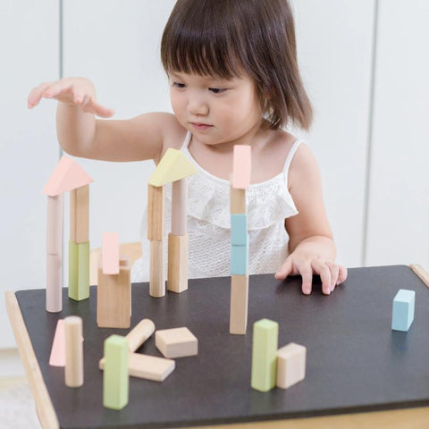 40 Unit Blocks Pastel - Plan Toys