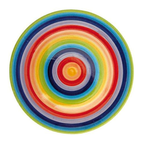 Rainbow painted dinner plate
