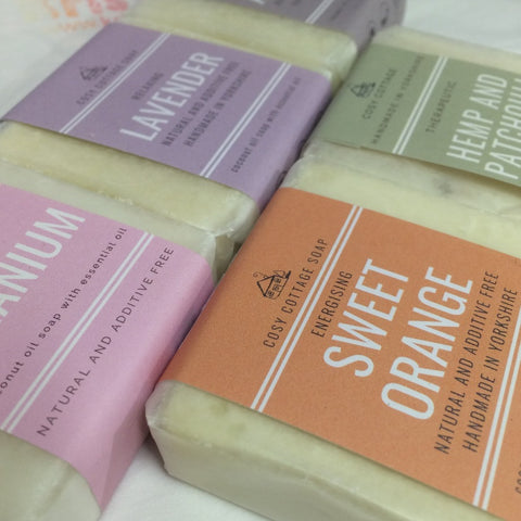 soap bars in various scents