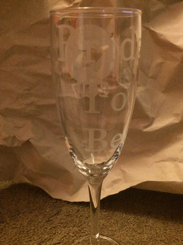 Personalised Hen Doo champagne flute