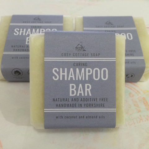 Shampoo bar with almond oils