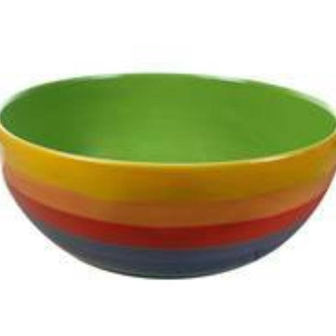 Rainbow salad bowl with green inside
