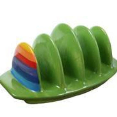 Rainbow toast rack with rounded tops