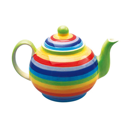 Rainbow striped teapot