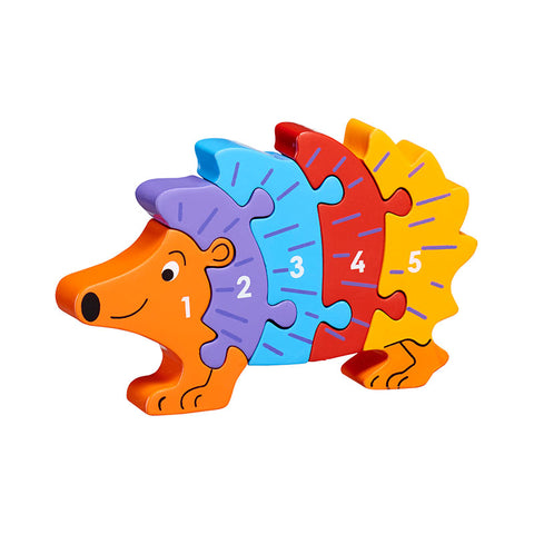 Hedgehog shaped 1-5 jigsaw