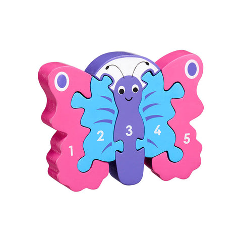 Butterfly shaped wooden jigsaw