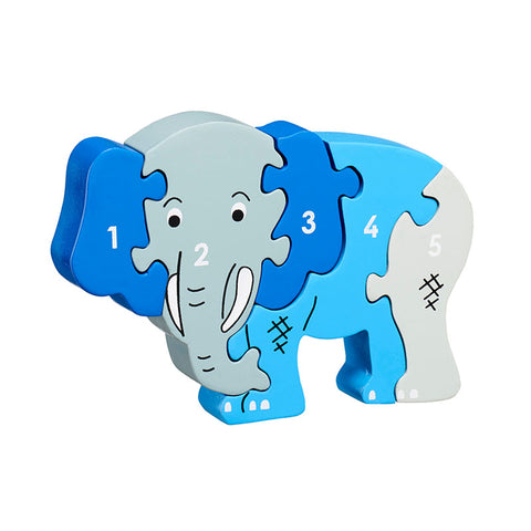 Elephant shaped wooden Jigsaw