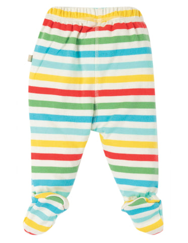 Multistripe pull up trousers